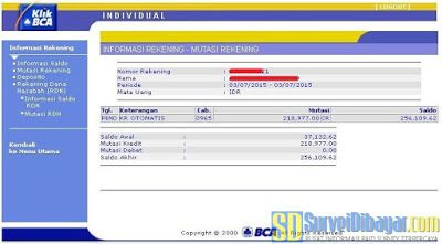 Saldo PayPal berhasil ditarik ke rekening bank BCA | SurveiDibayar.com
