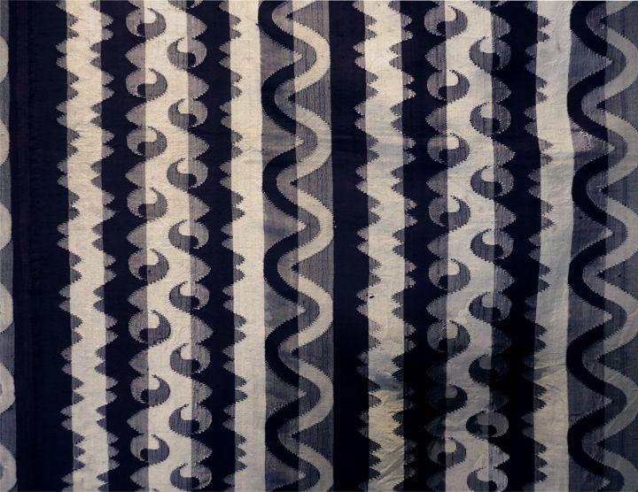 Court Garment/Men's Pah-soe (lower body wrapper) silk tapestry weave, Burma, mid-late 19th century (courtesy Thomas Mond; photo ©Liz Hager)