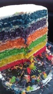 inside the burpday cake