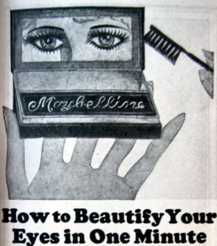 Top of Maybelline Mascara ad, Delineator, Feb. 1924.