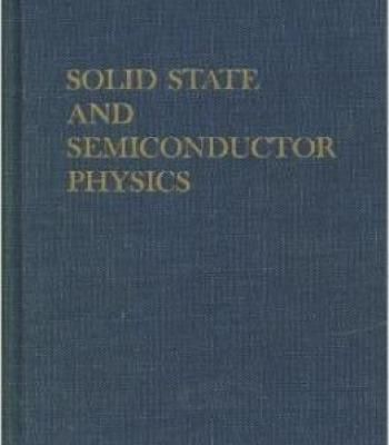 Solid State And Semiconductor Physics PDF