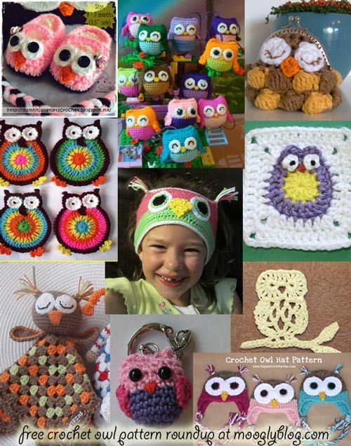 Fantastic roundup of Free Crochet Owl Patterns! Check it out at mooglyblog.com ✿⊱╮Teresa Restegui http://www.pinterest.com/teretegui/✿⊱╮