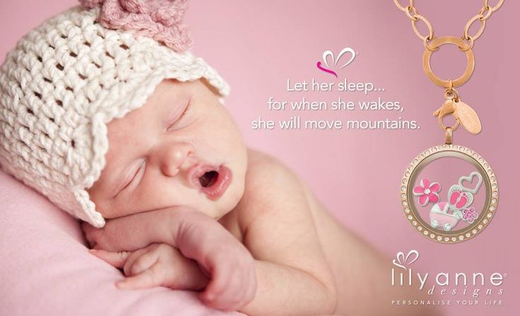 {Let her sleep... for when she wakes, she will move mountains} Thumbs up for our daughters #LilyAnneDesigns #PersonalisedLockets