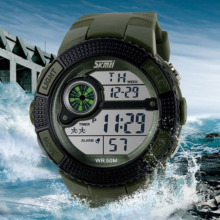 Skmei Brand Men's LED Digital Watch Military Watch Running Dress Sports Watches Fashion Outdoor Wristwatches Reloj Hombre //Price: $15.56 & FREE Shipping //     #buy18eshop