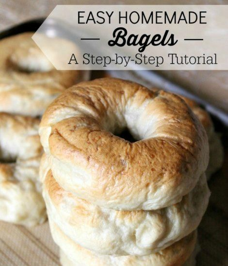 Easy Homemade Bagels | Best Homemade Bagels Recipe | Enjoy fresh homemade bagels for breakfast or as a snack with this step-by-step recipe and tutorial.