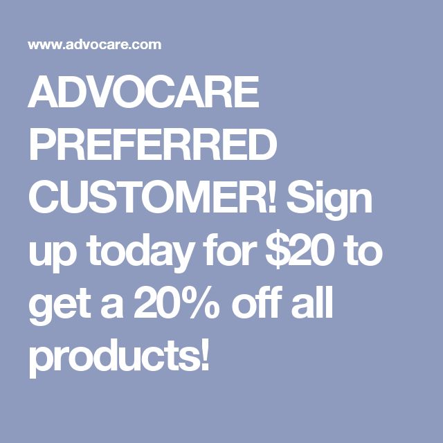 ADVOCARE PREFERRED CUSTOMER! Sign up today for $20 to get a 20% off all products!