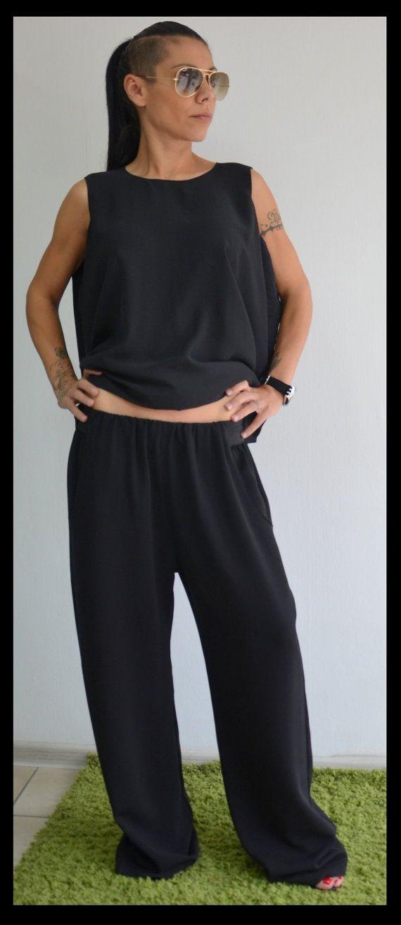 bajo pantalones/negro baja entrepierna por ClothesByLockerRoom