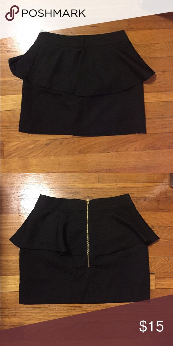 Urban Outfitters peplum skirt Adorable black peplum skirt with gold zipper in the back. silence + noise Skirts Mini
