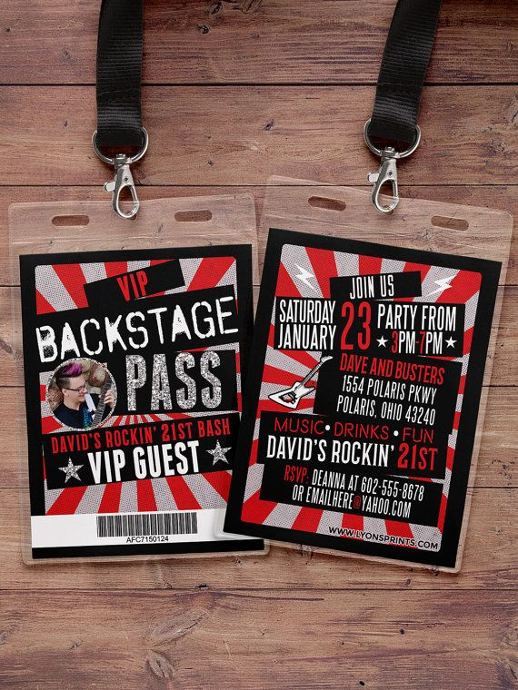 The 25+ best Vip pass ideas on Pinterest 21st birthday - concert ticket birthday invitations