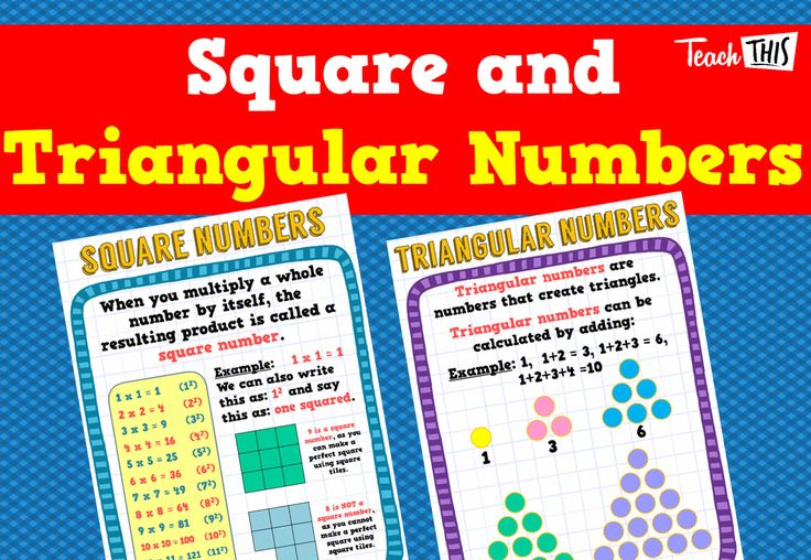 Square and Triangular Numbers Posters