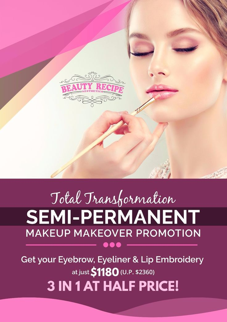 Hello beauties! Make your day fantastic with Beauty Recipe's promotion! Our Semi-Permanent Makeup Makeover Promotion is sure to give your eyebrows a beautiful transformation! In addition, there 's also Eyeliner & Lip Embroidery for only $1180 (U.P. $2360). Imagine this 3 in 1 service at half the price! Grab this amazing offer now! See you at our spa or you can just pm us directly.  Contact us at:  🏠104 Jurong East St.13 #01-102 ☎ 65673568  🏠Marine Parade Central ☎ 98593982  🏠Orchard…