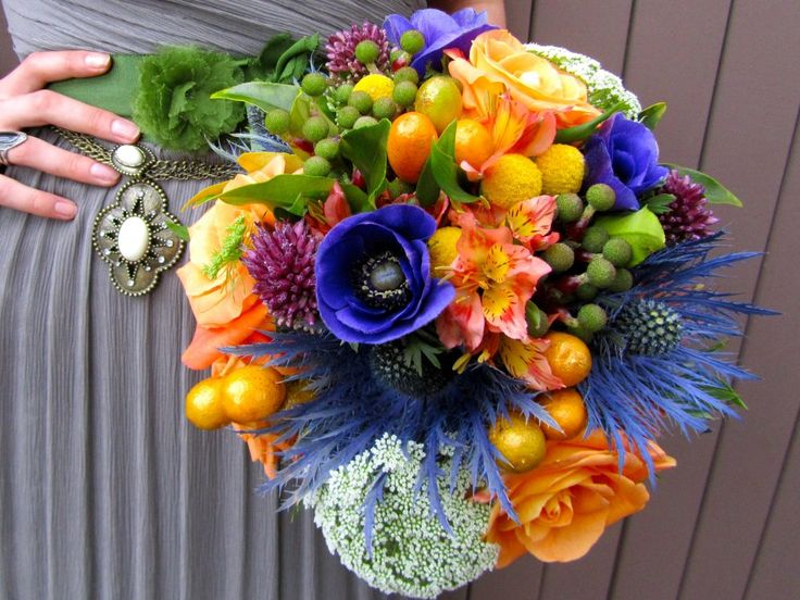 Strikingly beautiful wedding bouquet by Affair with George Flowers!