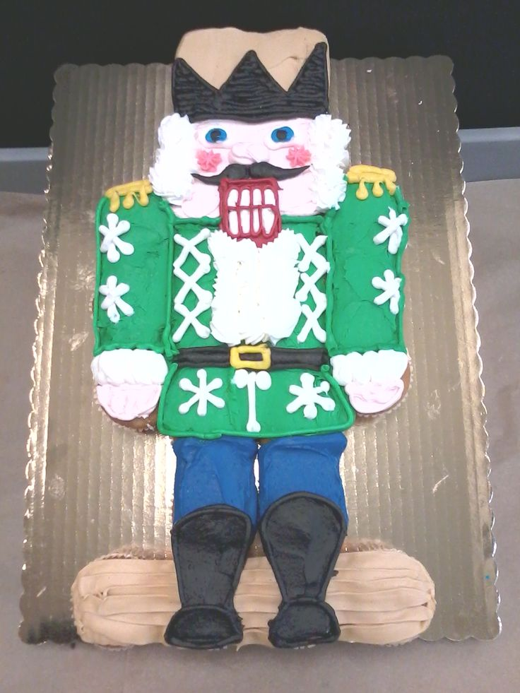 A Nutcracker cupcake cake from last Christmas