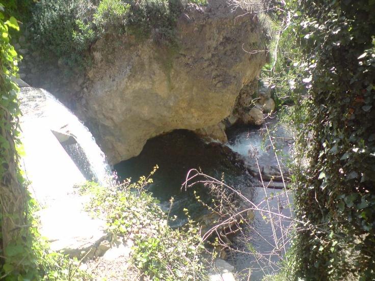 Erosión del agua en la piedra