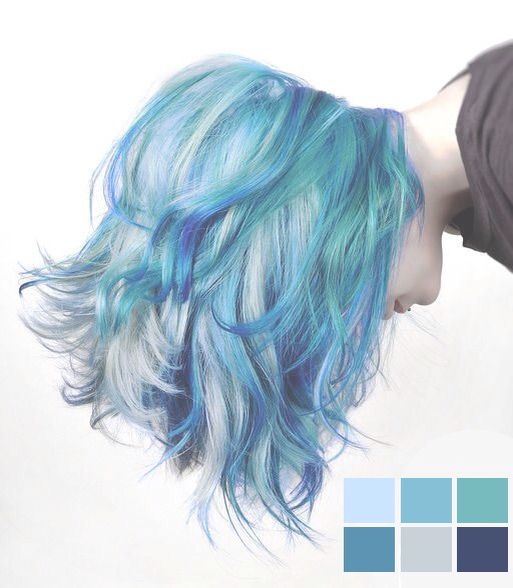 Blue hair inspiration