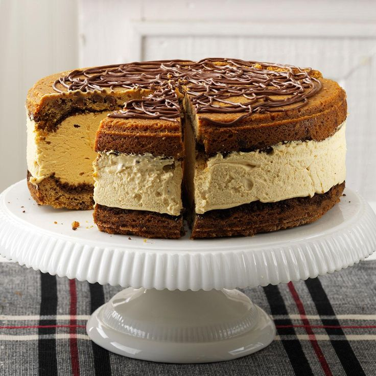 Giant Peanut Butter Ice Cream Sandwich Recipe -I created this treat for my husband, adding light and low-fat products to the cookie dough. It was so fantastic that I fixed it with conventional ingredients for guests. Since it can be made ahead of time and frozen, it cuts stress for busy hostesses. And really, who doesn't love peanut butter? —Joann Belack, Bradenton, Florida