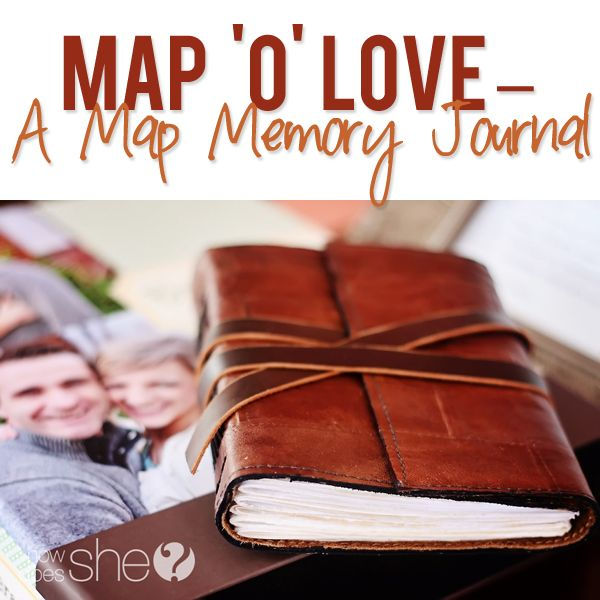 Beautiful Map Memory Journal! Record those special couple moments!