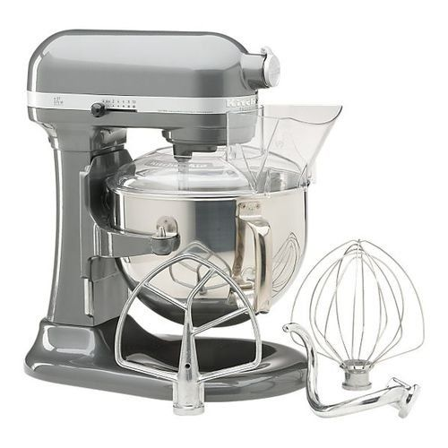 KitchenAid KP26M1PSL Professional 600 Series 6-Quart Stand Mixer, Silver  $366.99