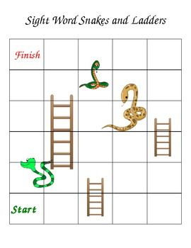 make your own snakes and ladders template - snakes and ladders custom word game template templates