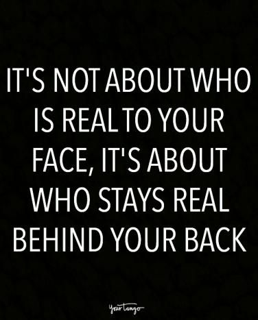 On who's real and who's fake.