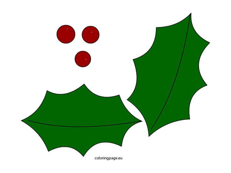 holly-leaf-template   Objetos navideños, Deco navideña ...
