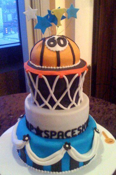 Image Of Basketball Theme 60th Birthday Cake Cakepins Com