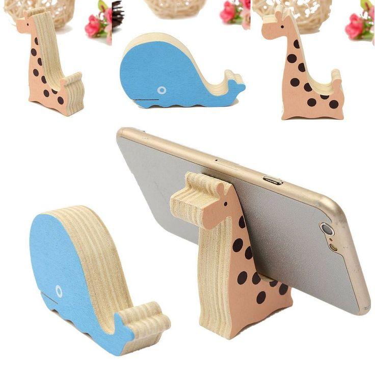 Universal Mini Wood Animal Cell Phone Desk Stand Holder For iPhone Samsung HTC #UnbrandedGeneric