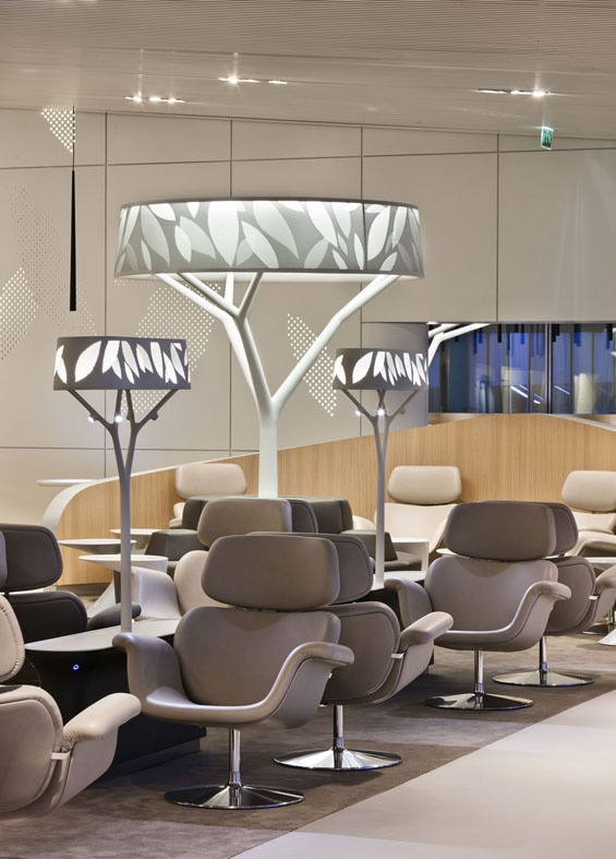 Air France Business Lounge at Paris-Charles de Gaulle.