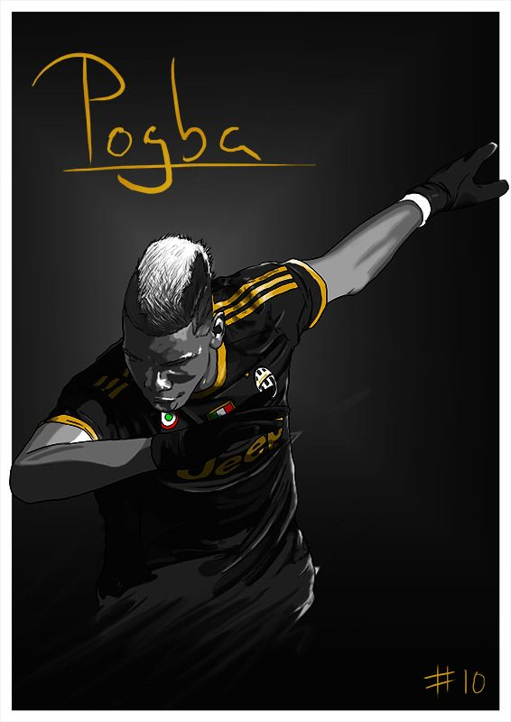 New Paul Pogba illustration! Spent some time trying to slightly tweak my style, I think this one works.