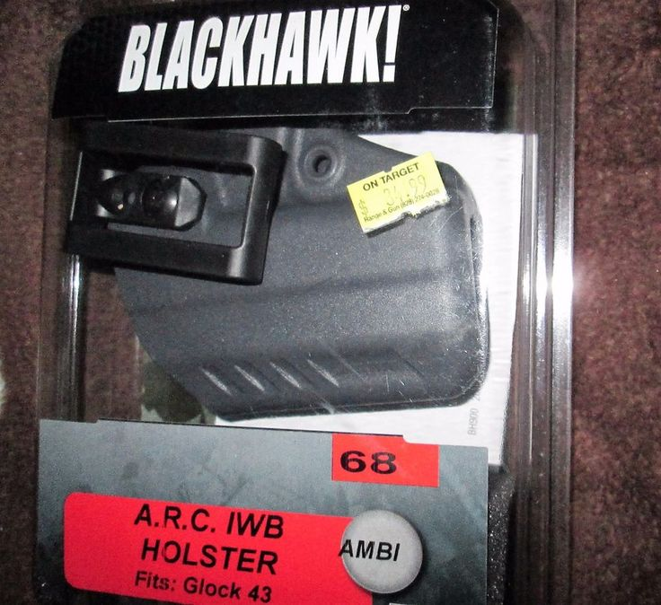 Blackhawk Holster A.R.C. IWB AMBI 68 Fits Glock 43 Size 68 Made In USA 417568UG  #Blackhawk #InsideWaistbandIWB