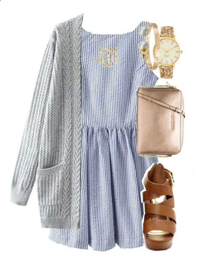 Back to school outfits: church:) by elizabethannee ❤ liked on Polyvore featuring Kate Spade, Car ...