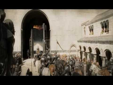 Instead of concentrating on Faramir's fight, we watch him ride out as the crowd mourns in advance and Pippin sings him a lament – and only see his broken body return to the city. The best thing about this battle is that we never actually see it – we anticipate it, and we see the consequences. Witnessing the actual blows would've diminished it.