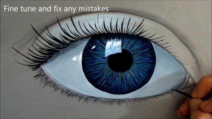 Jak namalować oko farbami akrylowymi ?