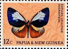 Papua New Guinea 1966 Butterflies SG 86a Fine Mint Scott 214 Other Papua Stamps HERE