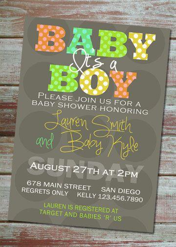 Printable Baby Shower Invitation