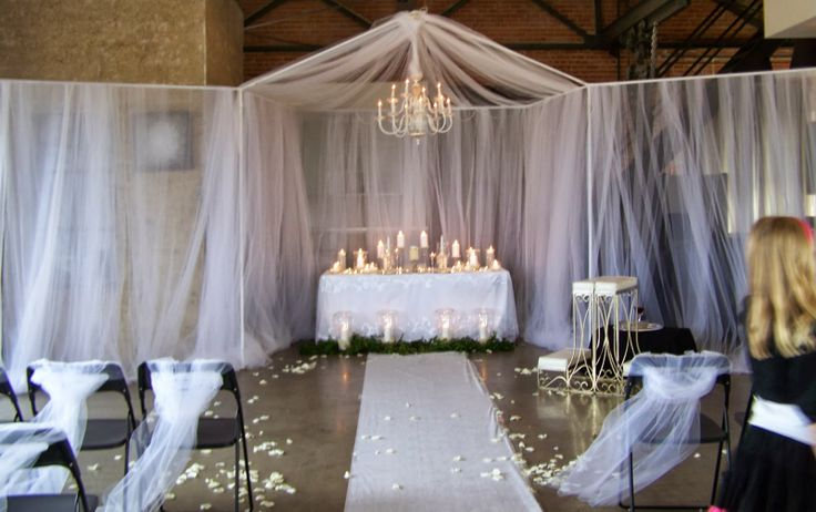 Pvc Backdrop With Tulle Could Use More Tulle And