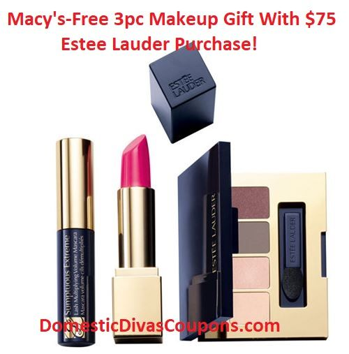 Macy's-Free 3pc Makeup Gift With $75 Estee Lauder Purchase! http://