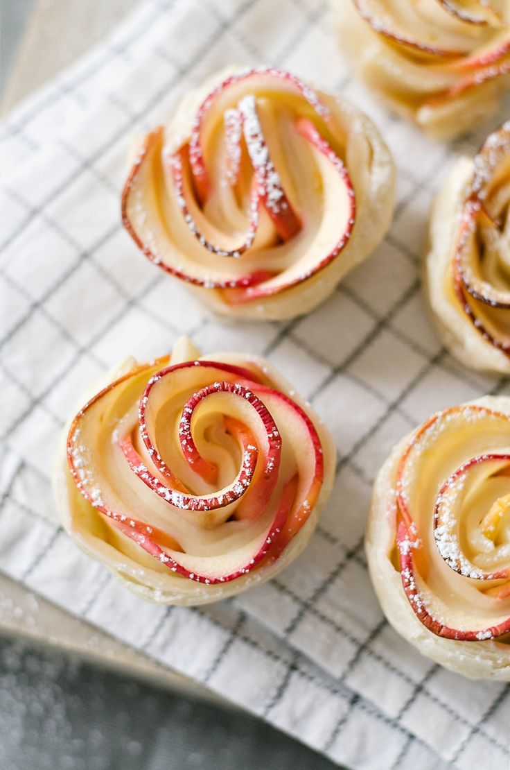Süße Apfelrosen aus Blätterteig