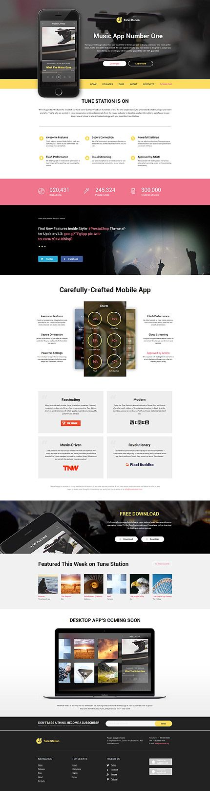 Software website inspirations at your coffee break? Browse for more WordPress #templates! // Regular price: $75 // Sources available: .PSD, .PHP, This theme is widgetized #Software #WordPress