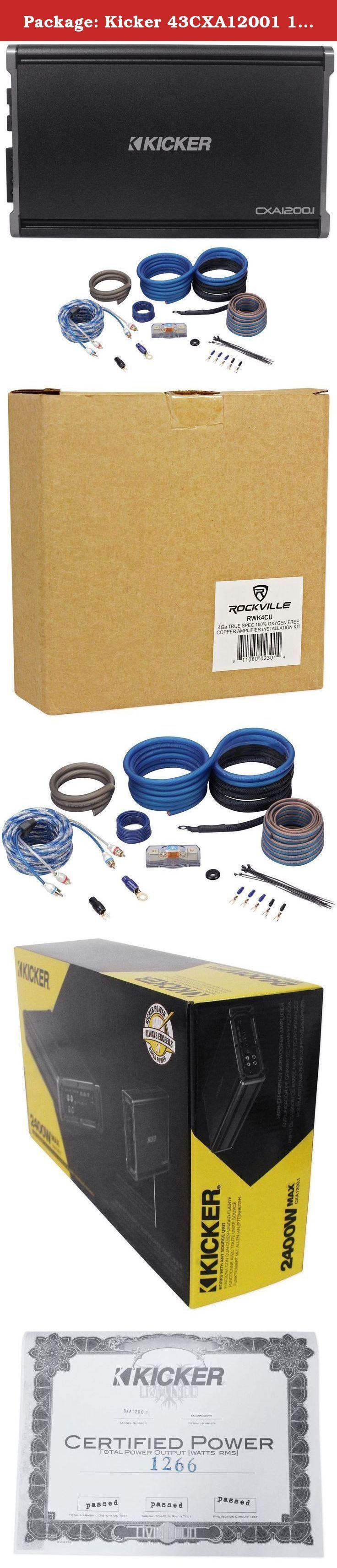 17 beste ideer om car audio amplifier på package kicker 43cxa12001 1200 watt rms mono class d car audio amplifier 3