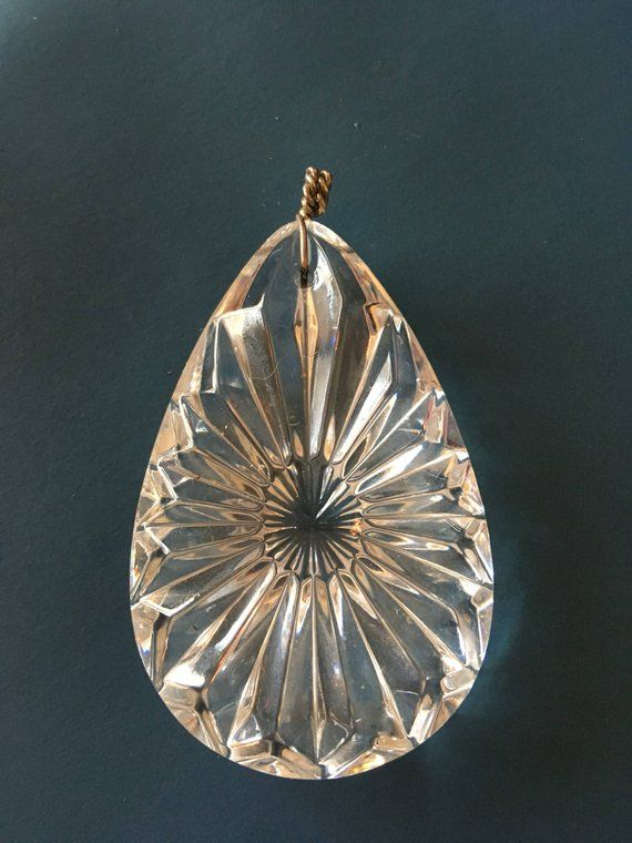 ddb5534df Vintage Waterford Crystal Pendant with Sterling Silver Bale ...