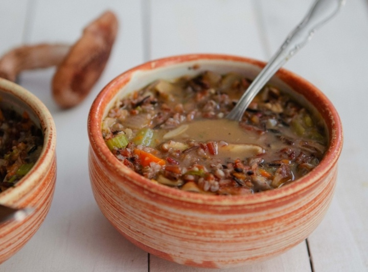 Wild Rice and Mushroom Soup | Recipes I want to try | Pinterest