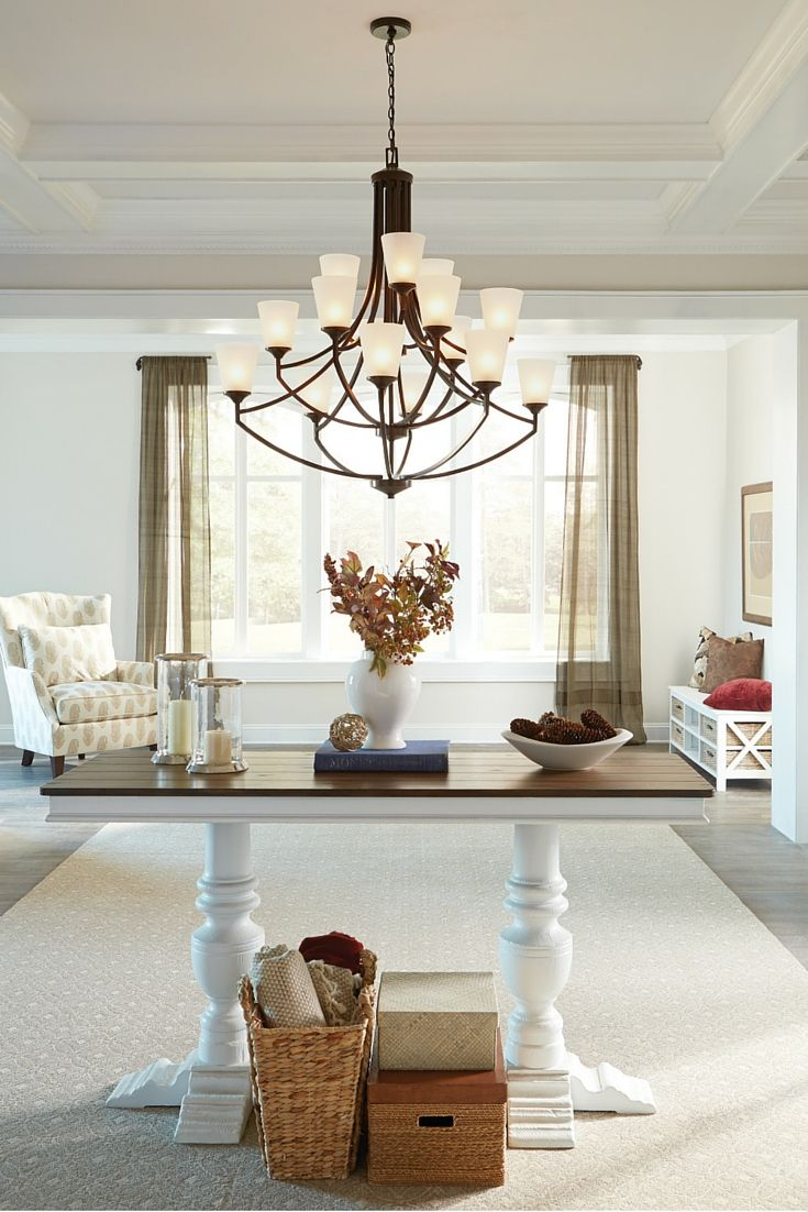 The transitional styling of the Hanford lighting