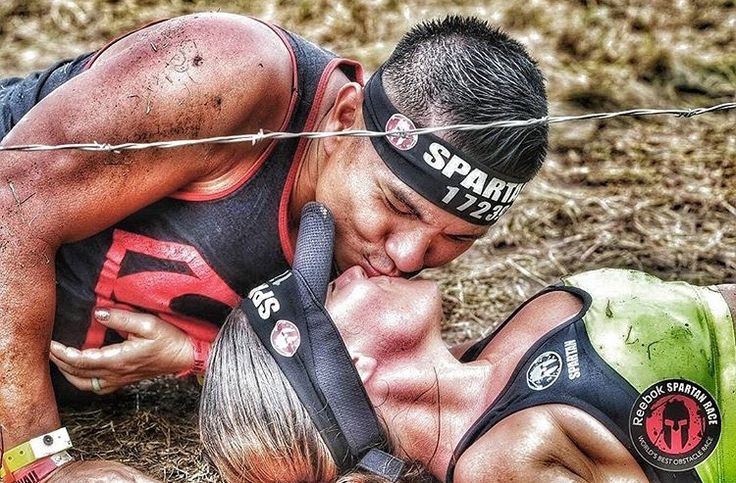 Couples that sweat together, stay together. #AROO to @hakoonamattata for finding your #SwoleMate and scoring a #SpartanSmooch under the barbed wire. Truely an inspiration. #SpartanRace