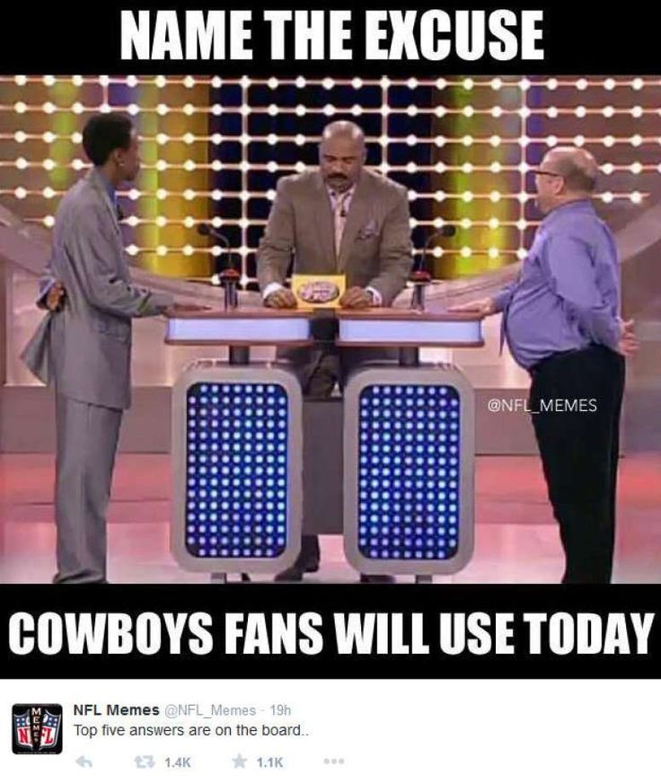 November 27, 2014 Philadelphia Eagles @ Dallas Cowboys, Score: 33-10  Photo by @NFL_Memes