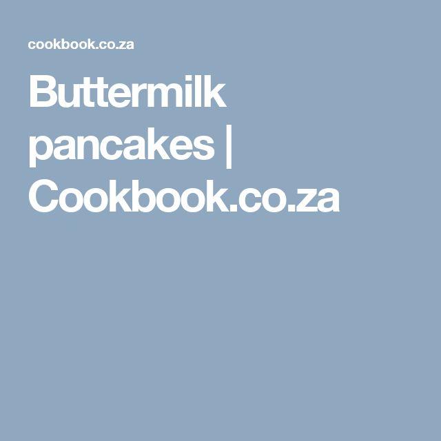 Buttermilk pancakes | Cookbook.co.za