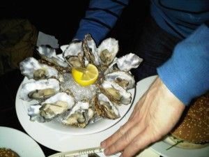 Oysters and mussels are the speciality