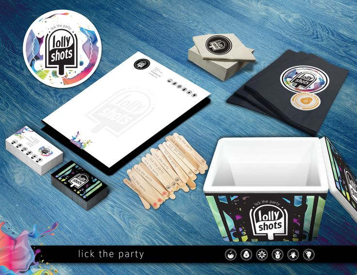 Lolly Shots - Paletas heladas con alcohol. Diseño de logotipo Aplicación de marca
