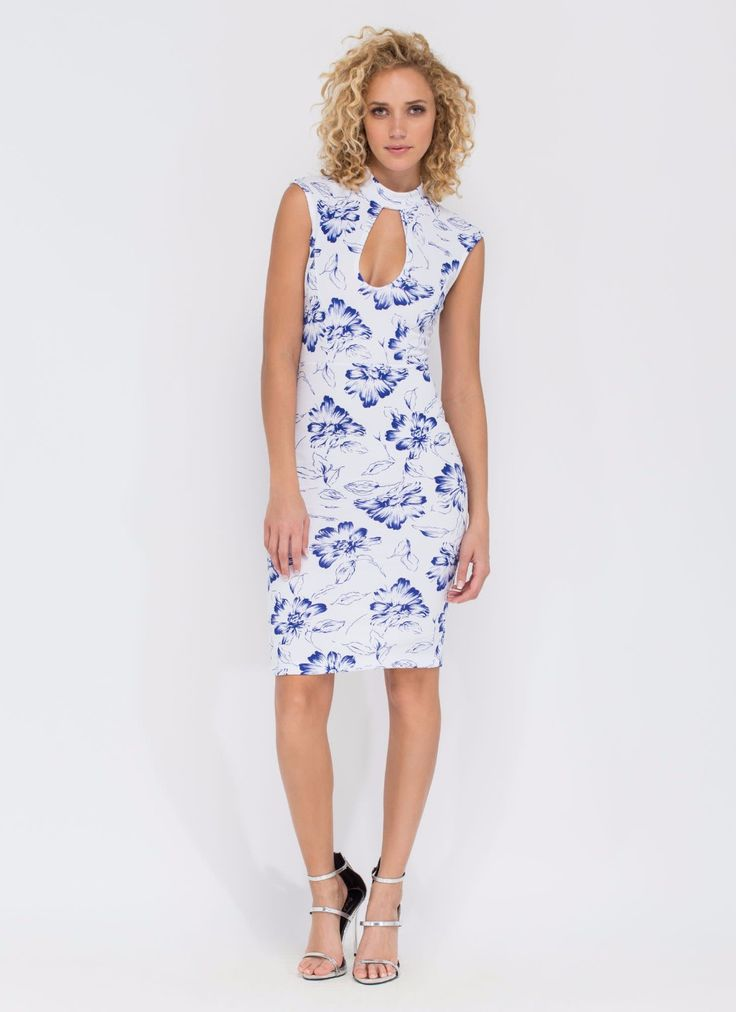 Latest Design Flower Printing Bodycon Dress Cheongsam Style Midi Dress With Sleeveless - Buy Sexy Midi Dresses,Modern Cheongsam Dress,Latest Dress Design Style 2014 Product on Alibaba.com