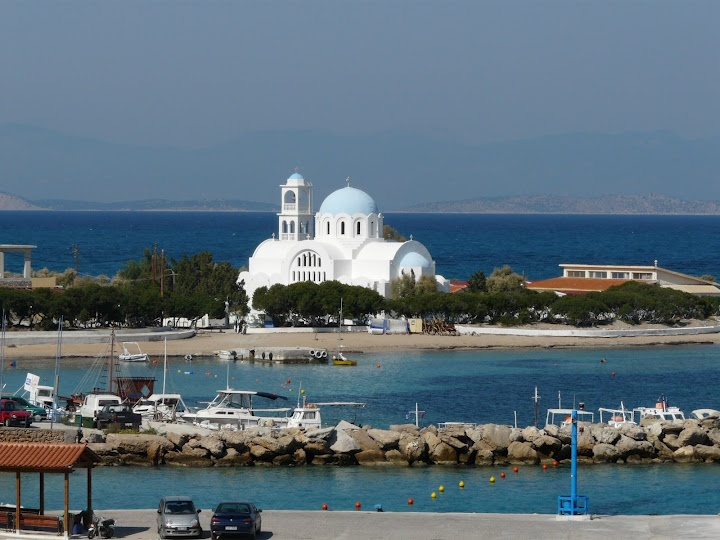 GORGEOUS view of a church in Agistri, Greece - can't wait to go back!